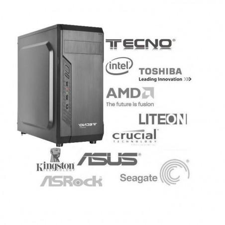 PC COMPLETO ASROCK J4105M CPU INTEGRATA 8GB RAM DDR4 SSD 480GB HARD DISK 1000GB